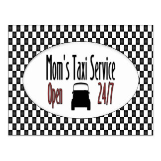 Servicio del taxi de la mamá tarjetas postales