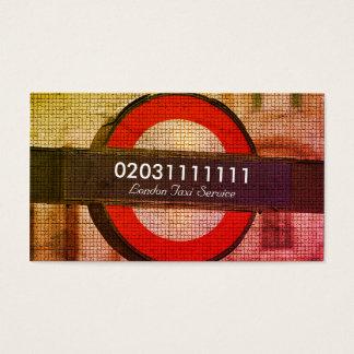 Servicio del taxi del efecto del mosaico de la tarjeta de negocios