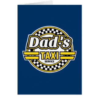 Servicio del taxi del papá - regalo del día de pad felicitacion