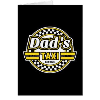 Servicio del taxi del papá - regalo para el papá tarjeta de felicitación
