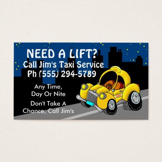Servicio del taxi tarjeta de visita