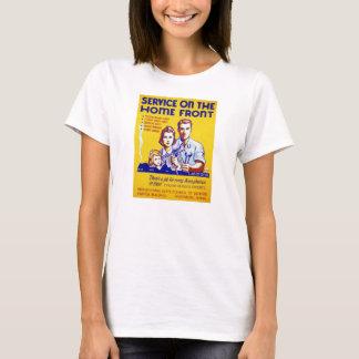 Servicio del vintage en el poster de WPA del Camiseta