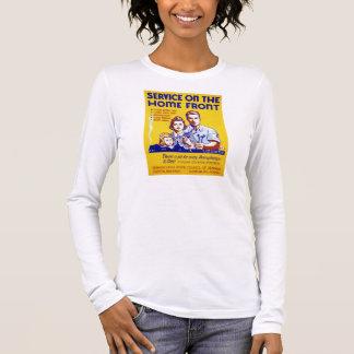 Servicio del vintage en el poster de WPA del Camiseta De Manga Larga