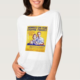 Servicio del vintage en el poster de WPA del Camisetas