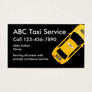 Servicio fresco Businesscards del taxi Tarjeta De Visita