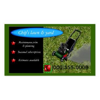 servicio lawnmowing tarjeta de visita