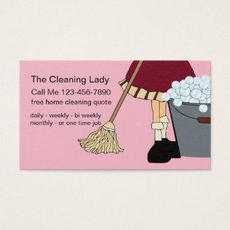 Servicio lindo simple de la limpieza tarjeta de visita