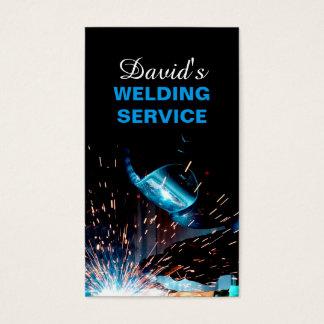 Servicio moderno de la soldadura y foto de la tarjeta de negocios