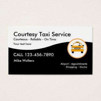 Servicio moderno del taxi tarjeta de negocios