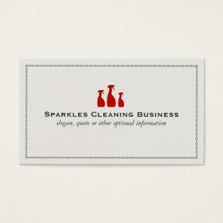 Servicio profesional de la limpieza de la casa tarjeta de visita