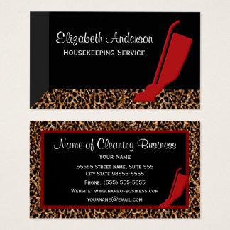 Servicio rojo de moda de la economía doméstica del tarjeta de visita