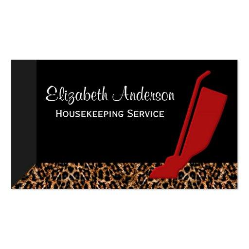 Servicio rojo de moda de la economía doméstica del tarjetas de visita