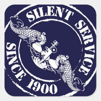 Servicio silencioso pegatina cuadrada