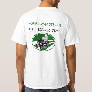 Servicio simple del césped camiseta