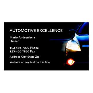 Servicios a empresas automotrices tarjetas de visita