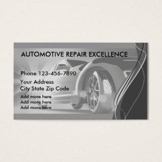 Servicios automotrices Businesscards Tarjeta De Negocios
