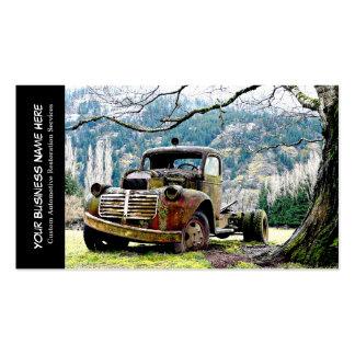 Servicios automotrices de la restauración del tarjetas de visita