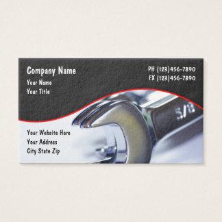Servicios automotrices tarjeta de negocios