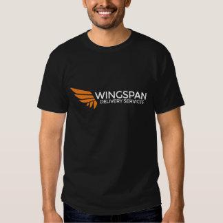 Servicios de entrega de la ENVERGADURA logotipo y Camisetas