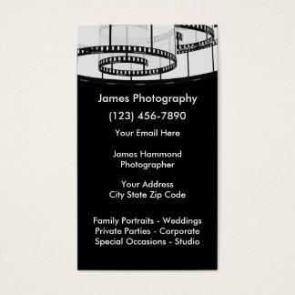 Servicios de la fotografía tarjeta de visita