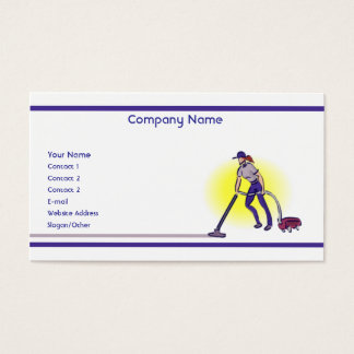 Servicios de la limpieza tarjeta de negocios
