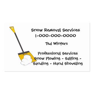 Servicios de la retirada de la nieve tarjetas de visita