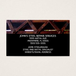 Servicios de reparación de acero tarjeta de negocios