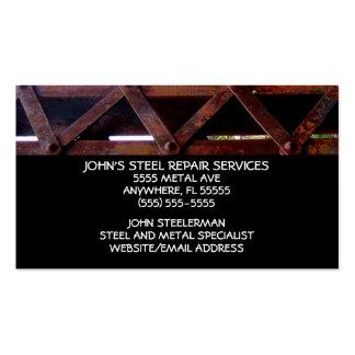 Servicios de reparación de acero tarjetas de visita
