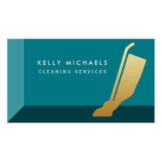 Servicios modernos de la limpieza del vacío del tarjetas de visita