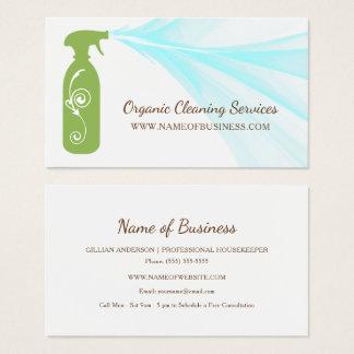 Servicios orgánicos de la limpieza de la botella tarjeta de visita