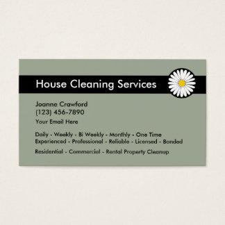 Servicios profesionales de la limpieza tarjeta de visita
