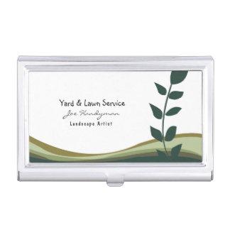 Servicios profesionales de la yarda del césped de caja de tarjetas de negocios