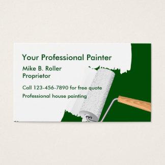 Servicios profesionales del pintor tarjeta de negocios