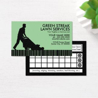 servicios verdes del césped de la raya tarjeta de visita