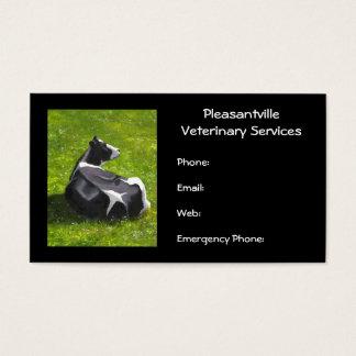 Servicios veterinarios de la pintura original de tarjeta de negocios