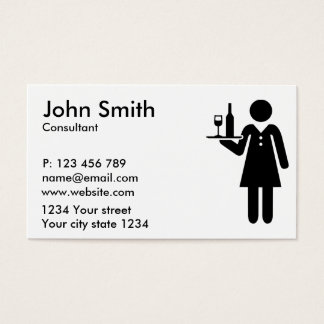 Servidor de la camarera tarjeta de negocios