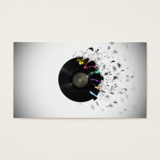 Servies de DJ Tarjeta De Negocios