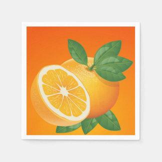 Servilleta anaranjada del cóctel de la rebanada servilletas de papel