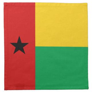 Servilleta de la bandera de Guinea-Bissau