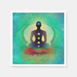 Servilleta de la yoga de la meditación servilleta desechable