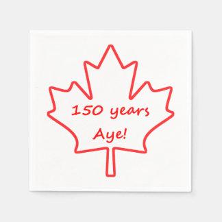 Servilleta De Papel 150 años de Canadá