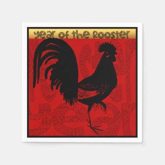 Servilleta de papel 1 del año 2017 del gallo