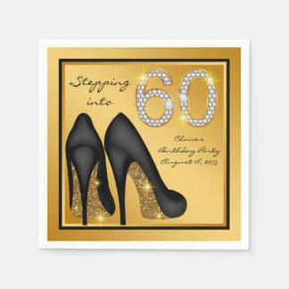 Servilleta De Papel 60.a fiesta del cumpleaños de la mujer