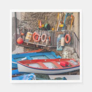 Servilleta De Papel Barcos en Cinque Terre Italia