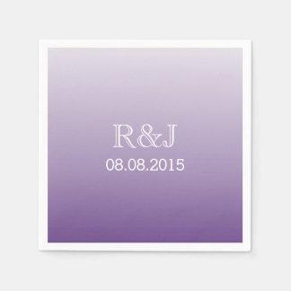 Servilleta De Papel boda púrpura del verano del ombre romántico