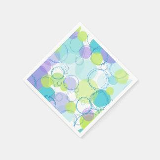Servilleta De Papel Burbujas coloridas