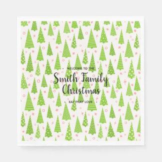 Servilleta De Papel Christmas nombrado familia