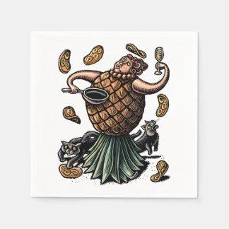Servilleta De Papel Cocinero de la piña que hace las crepes
