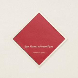Servilleta De Papel color sólido rojo cardinal