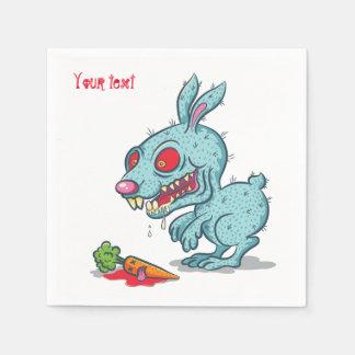 Servilleta de papel con el conejo fantasmagórico